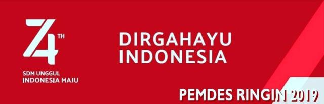 DIRGAHAYU HUT REPUBLIK INDONESIA 74 th